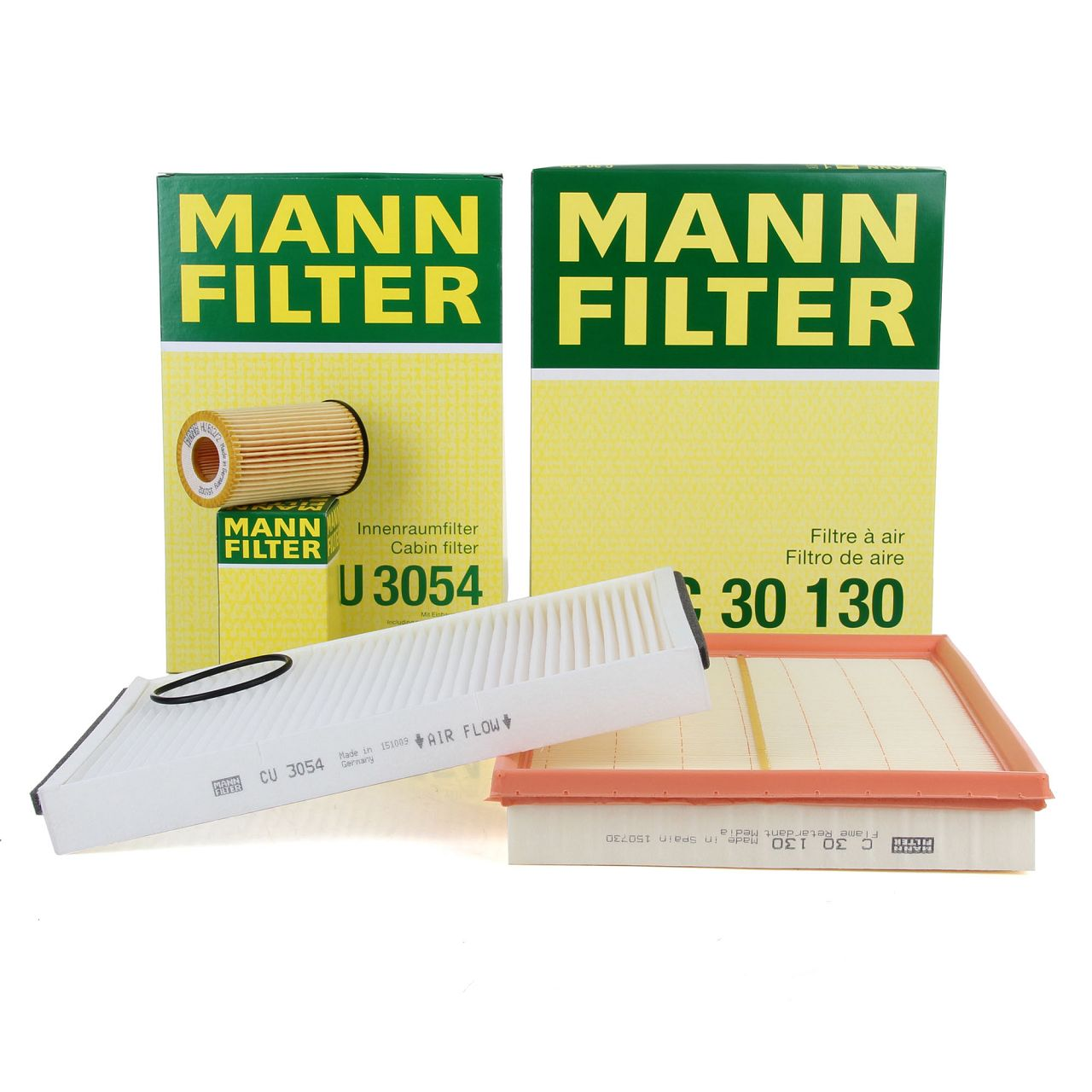 MANN Inspektionskit Filterpaket Filterset für Opel Astra G H 1.2 16V 1.4 1.6 1.8