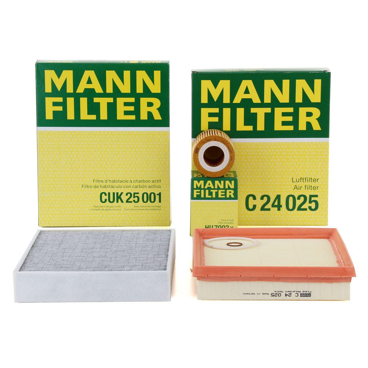 MANN Filterset für BMW F20 F21 114-120i F30 F31 316i 320i 102/136/170/177 PS