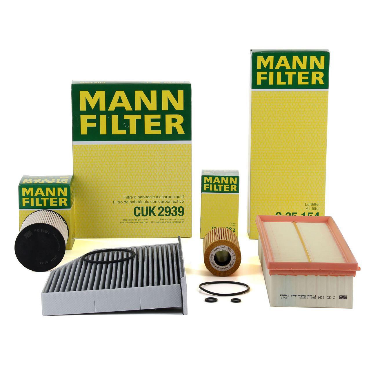 MANN Filterset für AUDI A3 8P Q3 SEAT LEON SKODA OCTAVIA 2 VW GOLF 6 1.6/2.0TDI