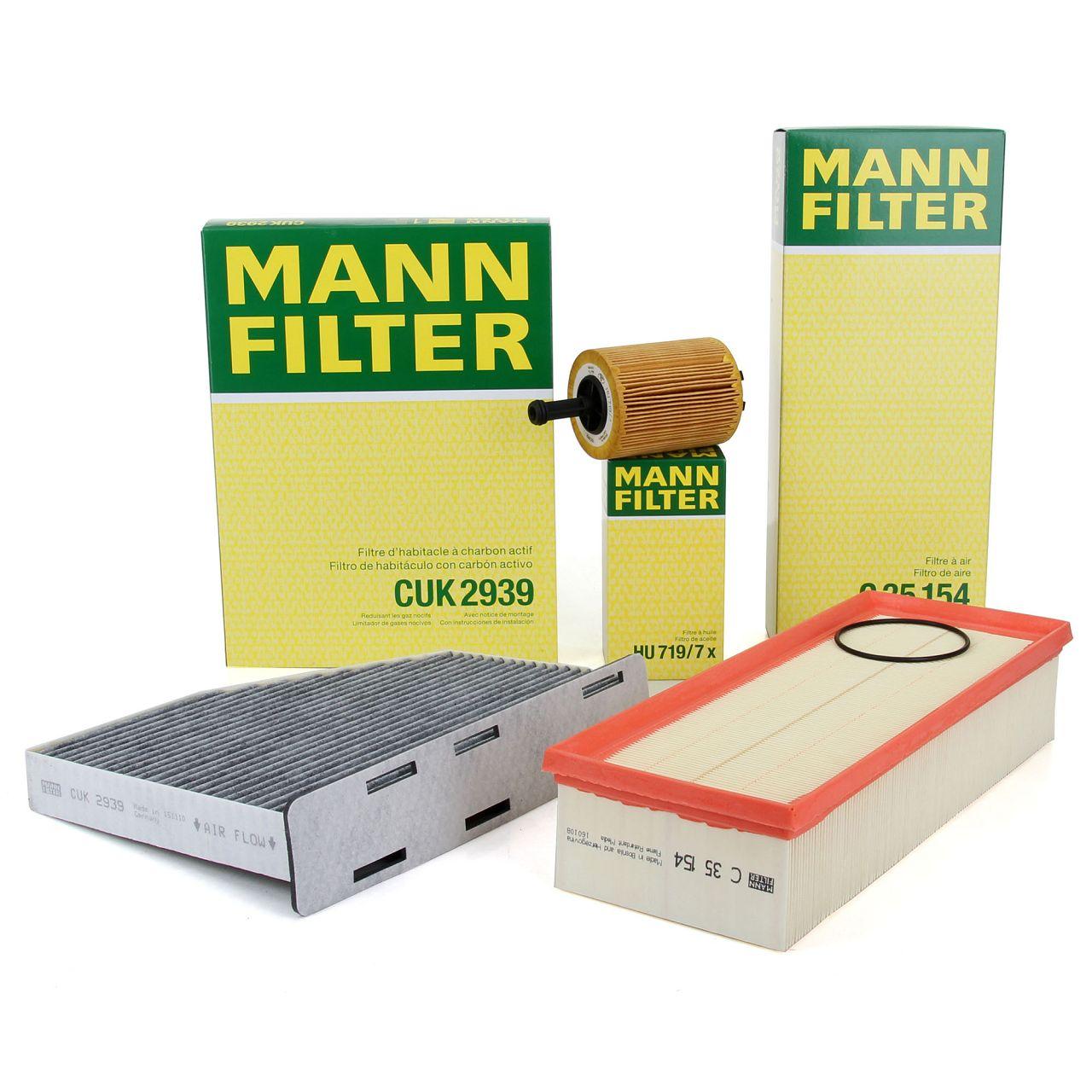 MANN Filterset für AUDI A3 TT SEAT SKODA VW GOLF 5 6 PASSAT TOURAN 1.9/2.0TDI