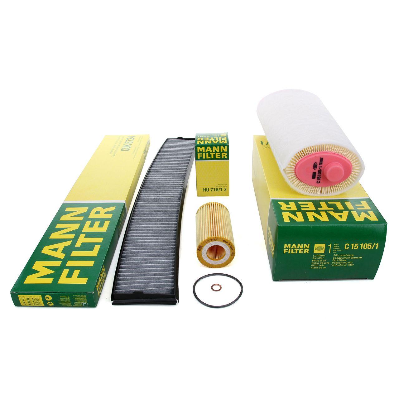 MANN Filterpaket Filterset für BMW 3er E46 318d 115/116PS 320d 136PS