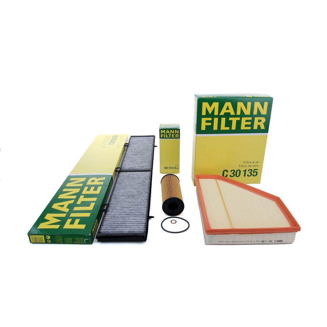 MANN Filterpaket Filterset für BMW E81 E87 116-123d E90 E91 E92 316-320d X1 E84