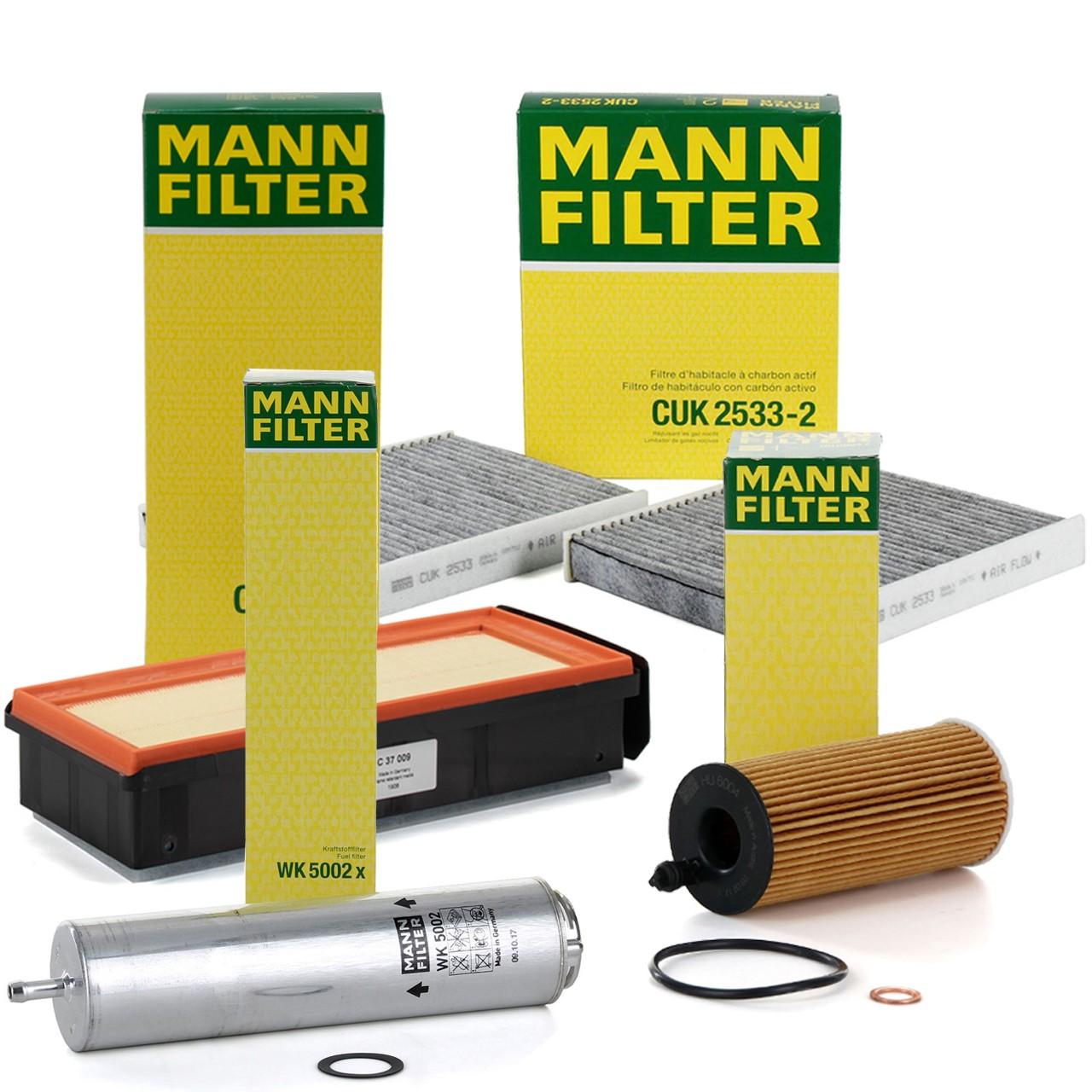 MANN Filterpaket Filterset für BMW 5er F10 F11 F07 530d 535d 6er F12 F13 640d