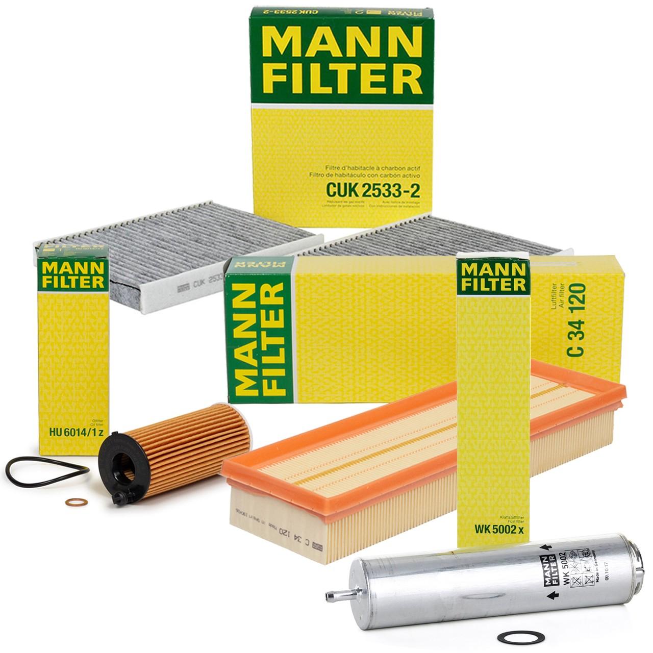 MANN Filterpaket Filterset für BMW 5er F10 F11 518d 150 PS + 520d 190/205/211 PS