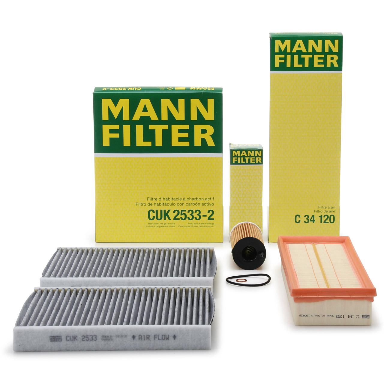 MANN Inspektionskit für BMW 5er F10 F11 518d 150/163 PS + 520d 190/205/211 PS
