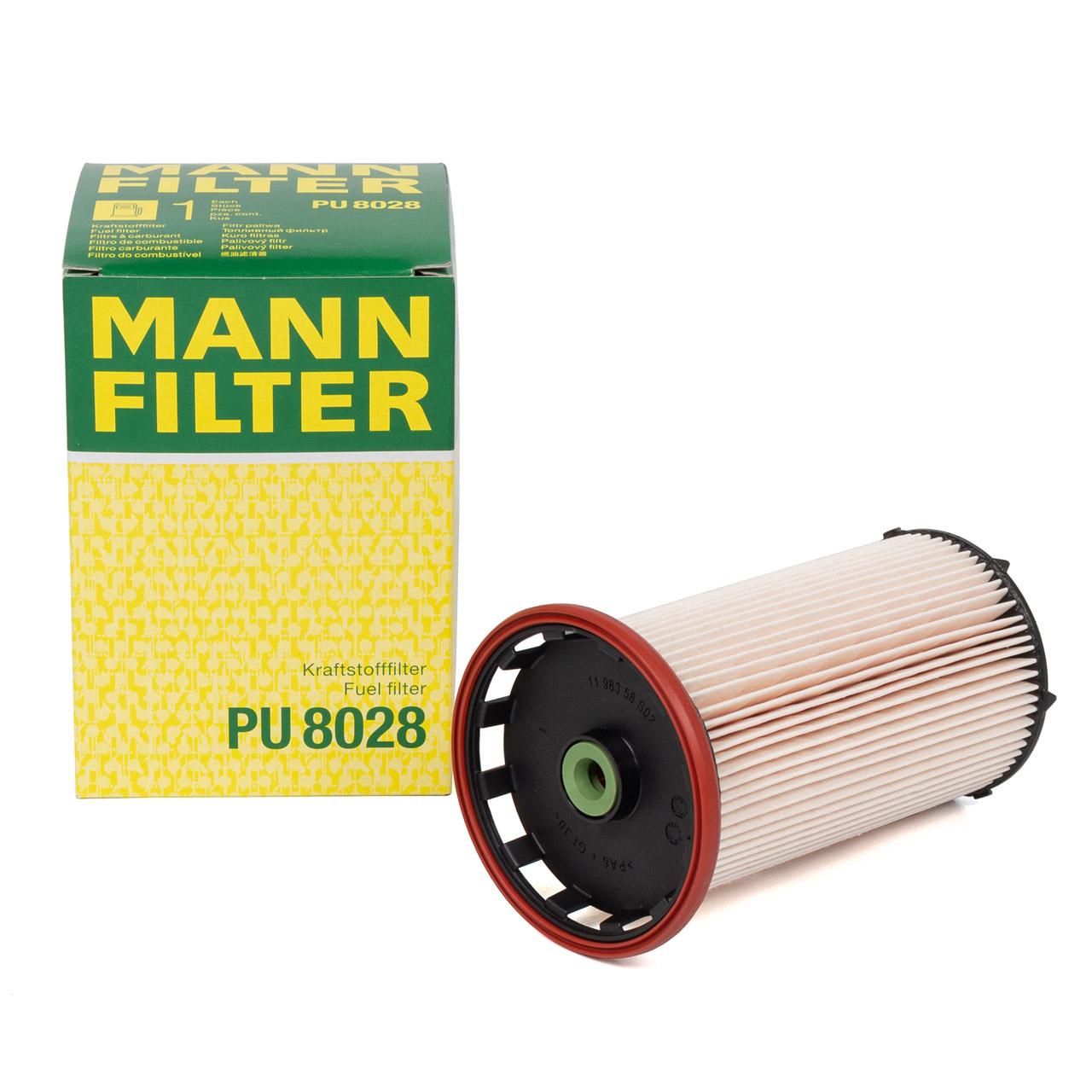 MANN PU8028 Kraftstofffilter Dieselfilter AUDI A3 Q2 Q3 SEAT SKODA VW Golf 7 1.6 2.0 TDI
