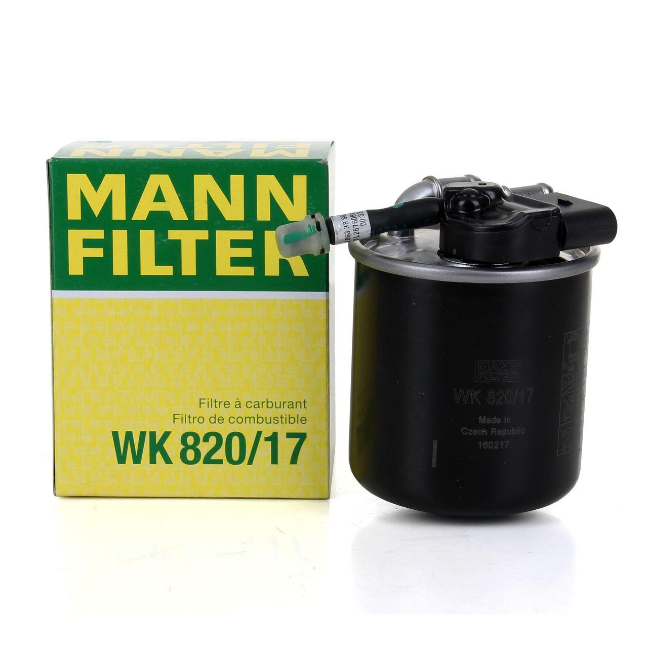 MANN WK820/17 Kraftstofffilter Diesel MERCEDES W204 W205 W212 W221 W222 OM651