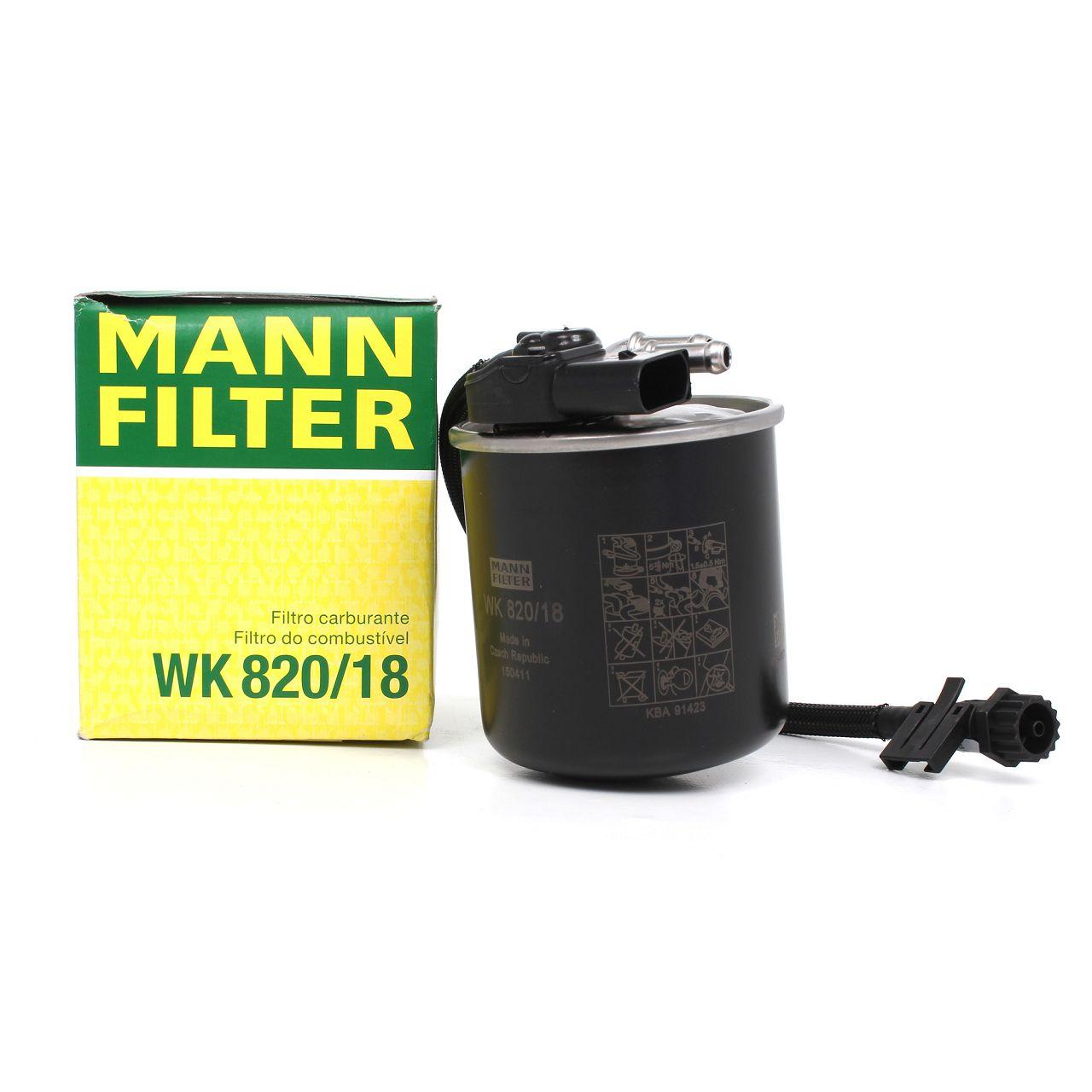 MANN WK820/18 Kraftstofffilter Diesel MERCEDES Sprinter 906 415 CDI 515 CDI