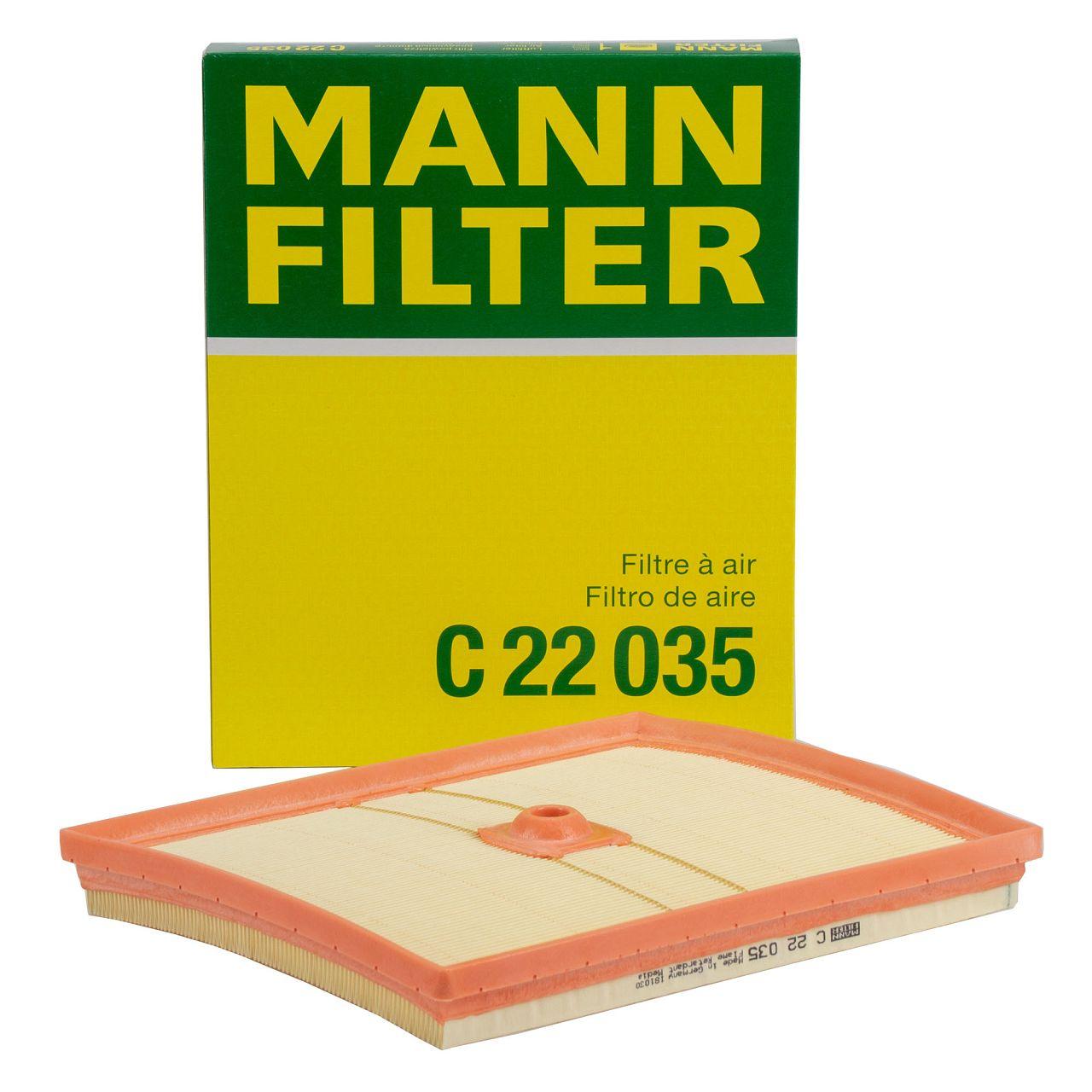 MANN C22035 Luftfilter AUDI A1 8X A3 8V Q2 SEAT SKODA VW Golf 7 Polo Up 1.0 TSI