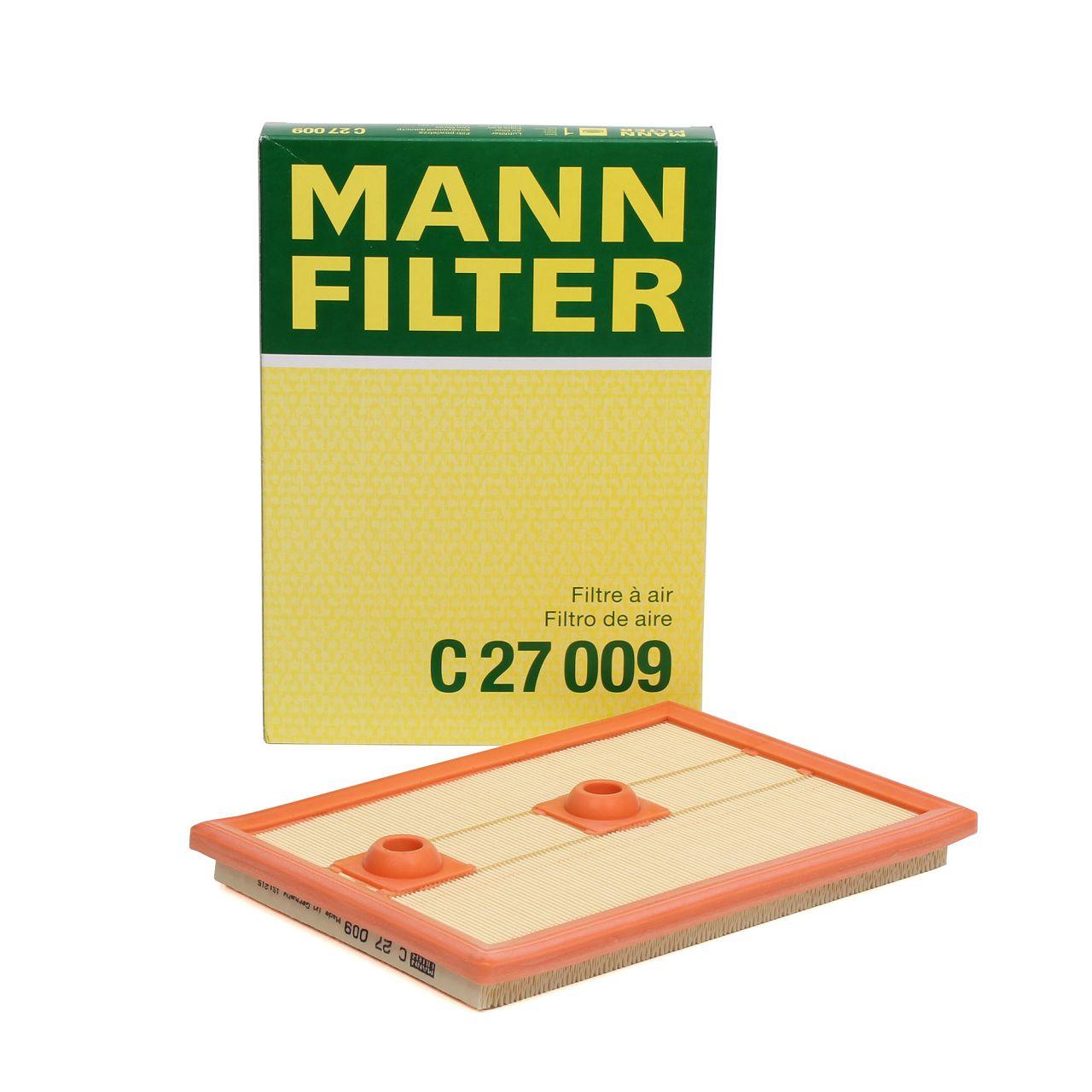 MANN C27009 Luftfilter AUDI A1 A3 Q3 SEAT SKODA VW Golf 6 7 Polo 1.2/1.4 TSI