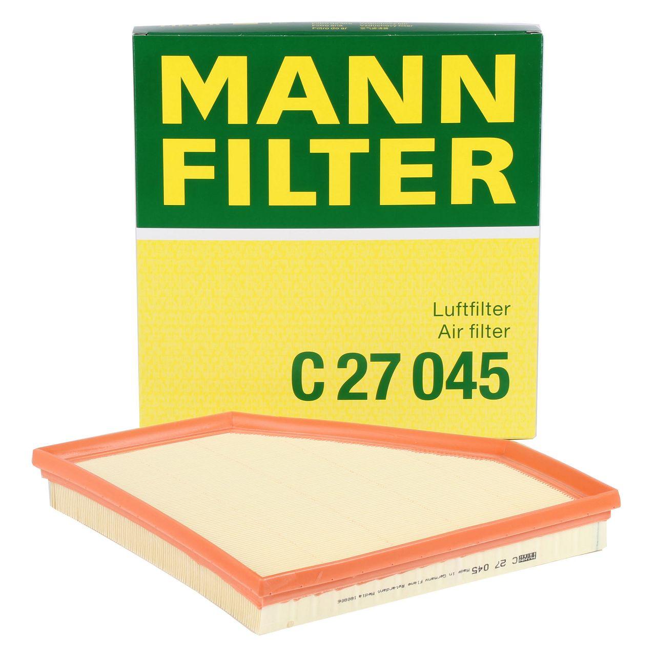 MANN C27045 Luftfilter BMW F20/21 120/125i M140i F30-34 320-340i F32-36 420-440i