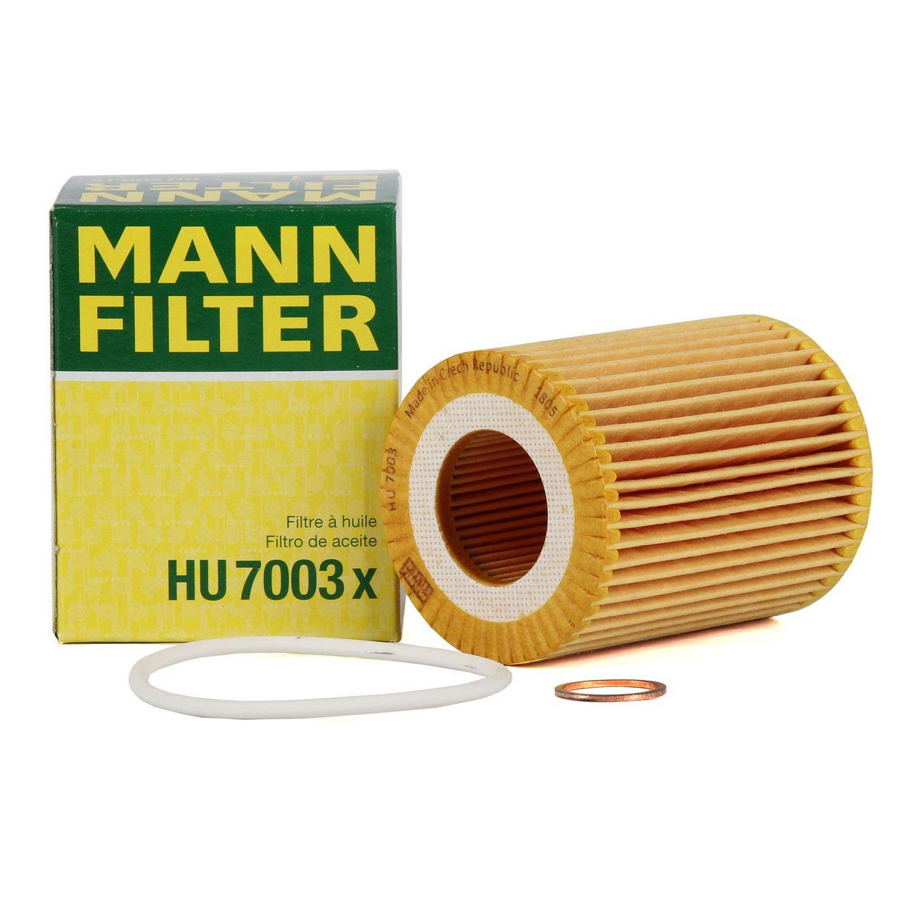 MANN HU7003x Ölfilter BMW 1er F20 F21 114-120i 3er F30 F31 316i 320i N13