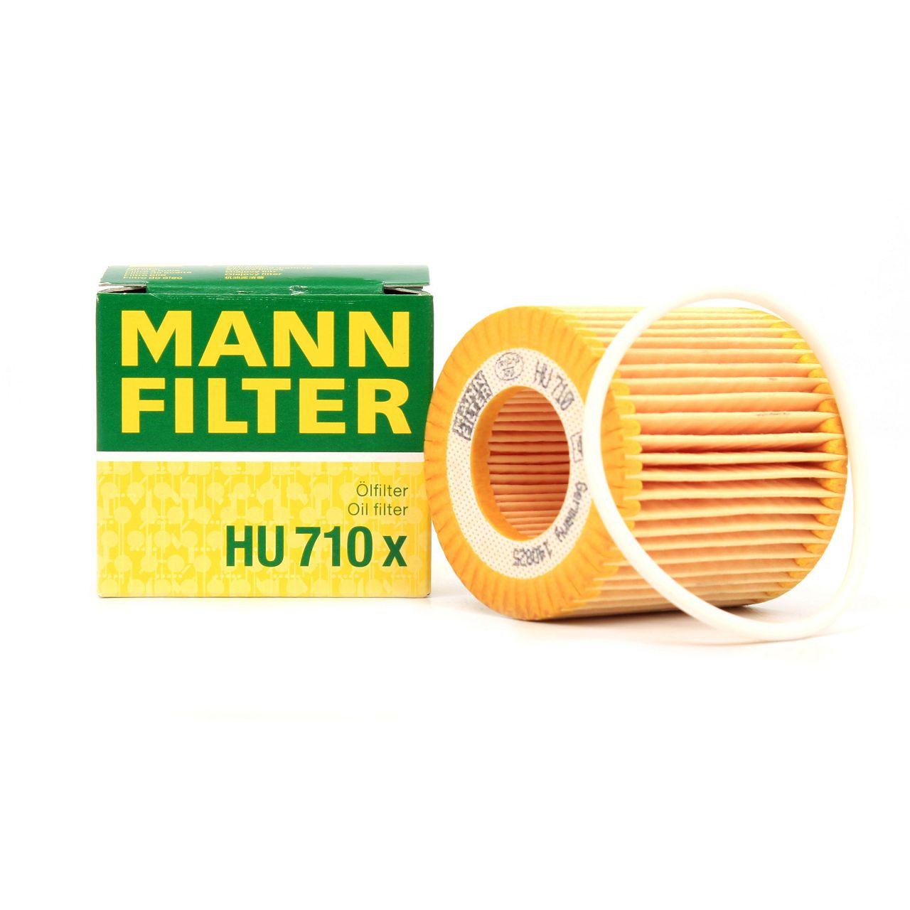 MANN HU710x Ölfilter SEAT Ibiza 3 4 SKODA Fabia 1 2 Rapid VW Fox Polo 1.2