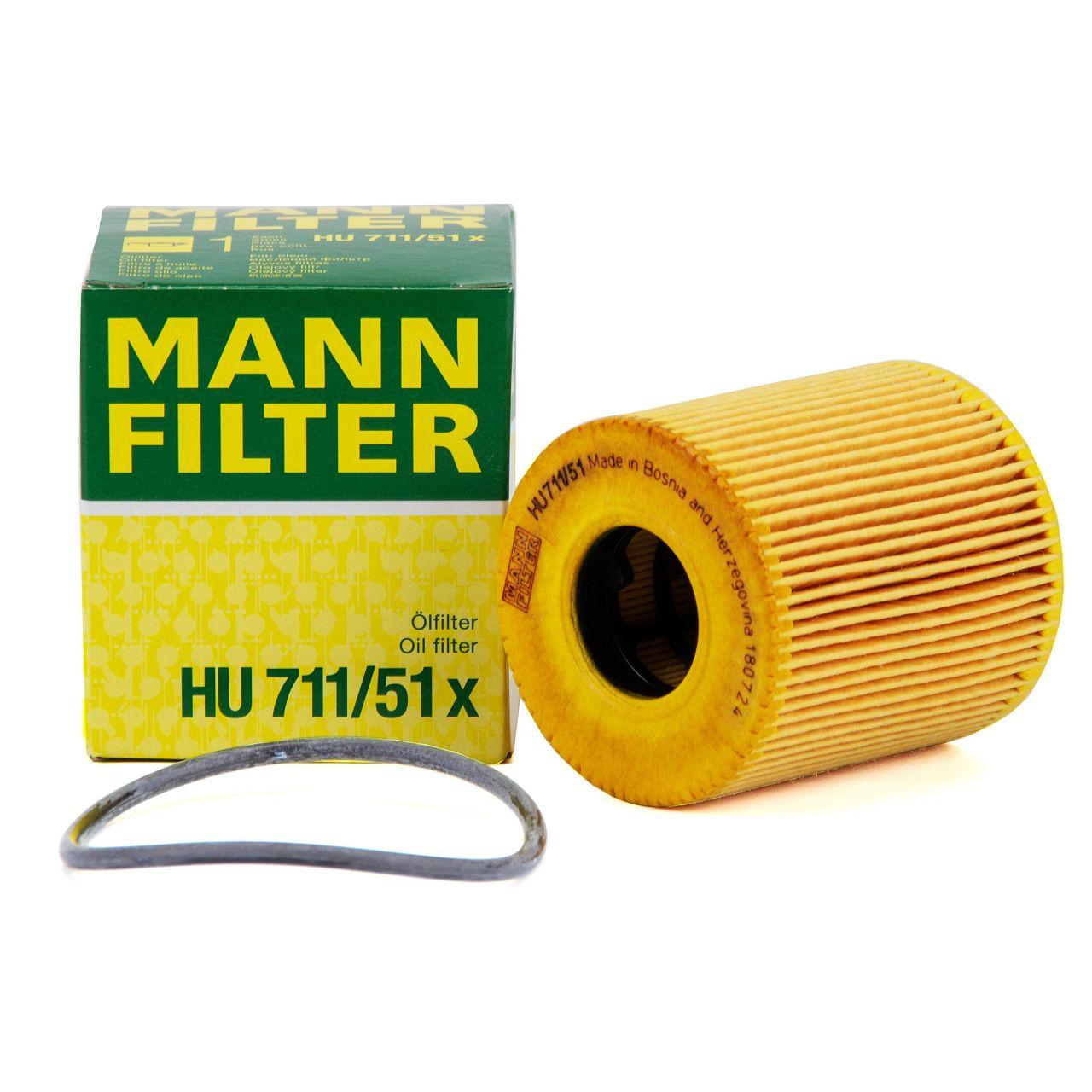 MANN HU711/51x Ölfilter für CITROEN FIAT FORD MINI OPEL PEUGEOT TOYOTA VOLVO