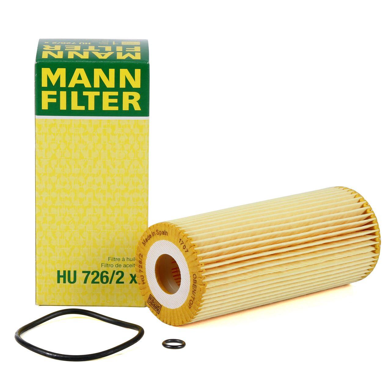 MANN Ölfilter HU726/2x für AUDI FORD SEAT SKODA VW 1.9 SDI 1.9 TDI 2.5 TDI