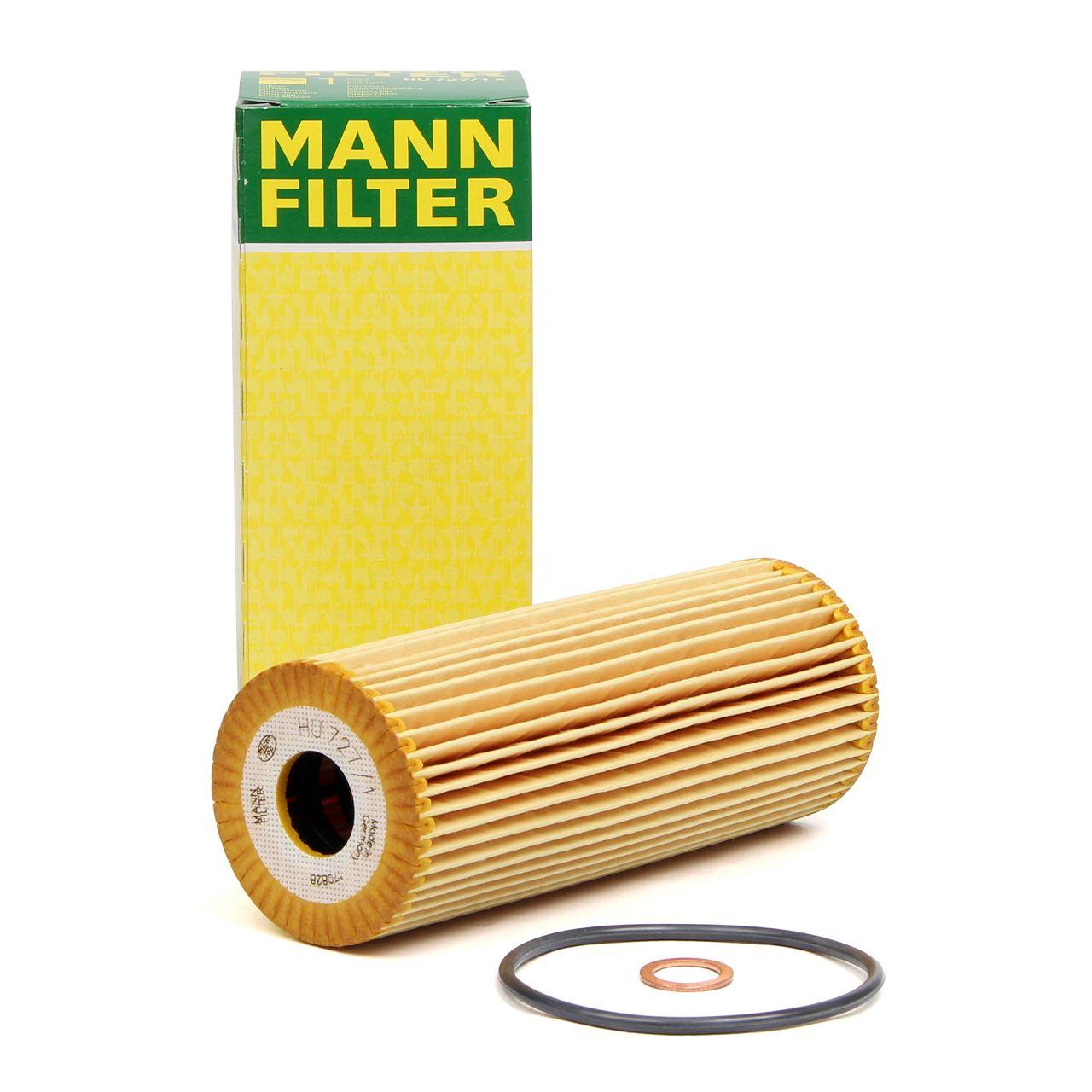 MANN Ölfilter HU727/1x für MERCEDES W202 W203 C208 W124 W210 W463 W163 W140