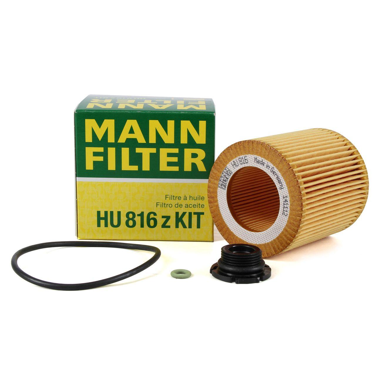 MANN HU816zKit Ölfilter BMW 3er F30 F31 F34 320/328i 5er F10 F11 520i 1er 125i