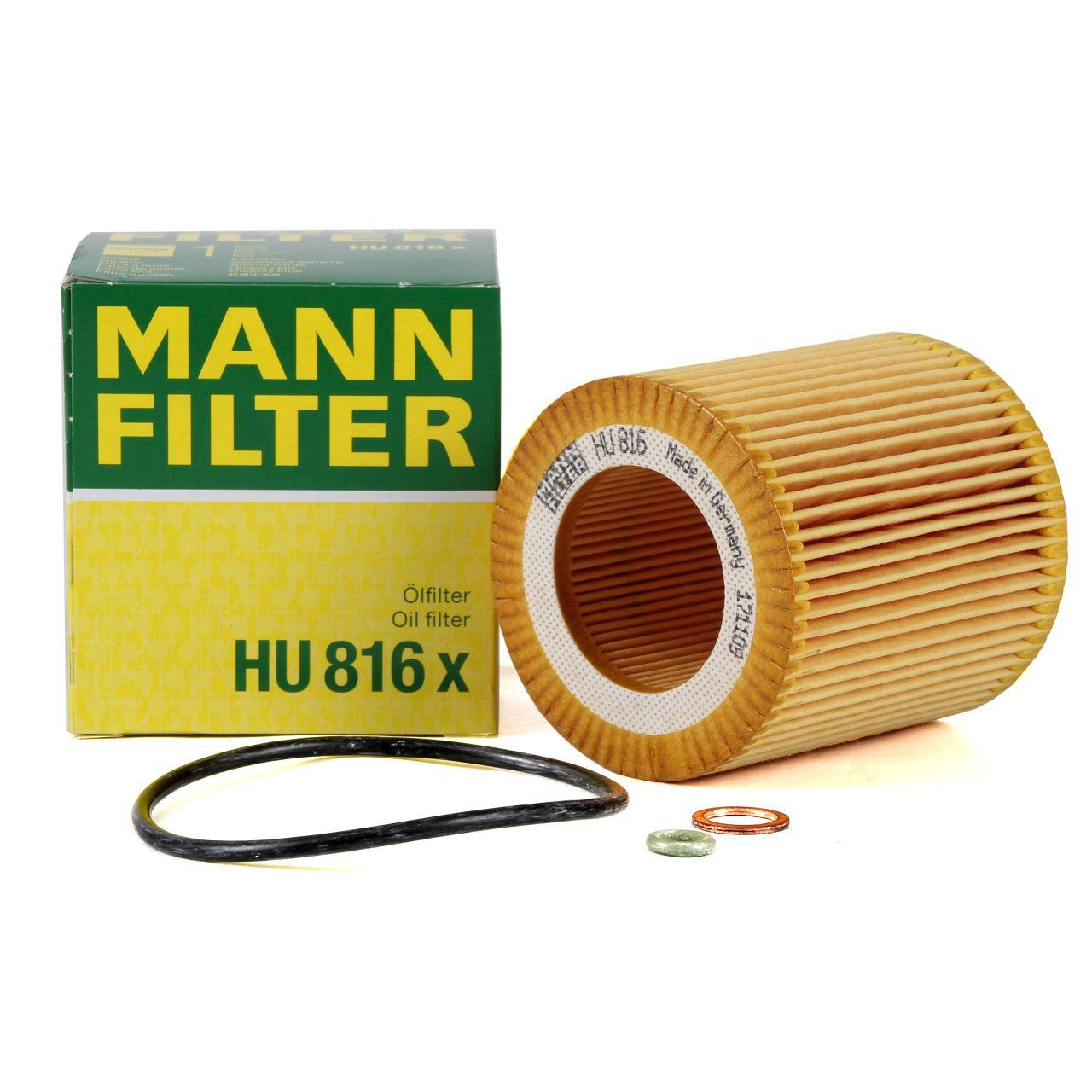 MANN Ölfilter HU816x für BMW 1er 2er 3er 4er 5er 6er 7er X1 X3 X4 X5 X6 Z4