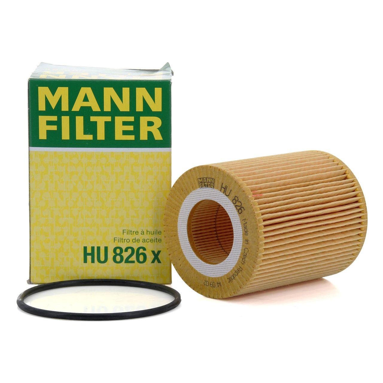 MANN Ölfilter HU826x für CITROEN C5 C6 / PEUGEOT 407 COUPE 3.0HDi 241 PS 1109.AV