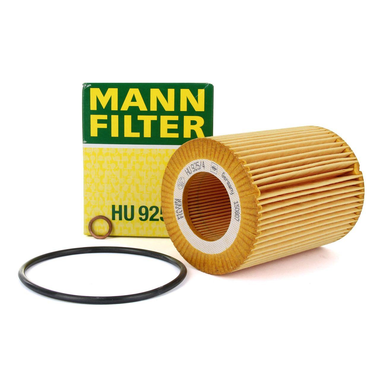 MANN Ölfilter HU925/4x für BMW E36 E46 E90 E60 E61 E38 E65-67 X3 X5 Z3 Z4