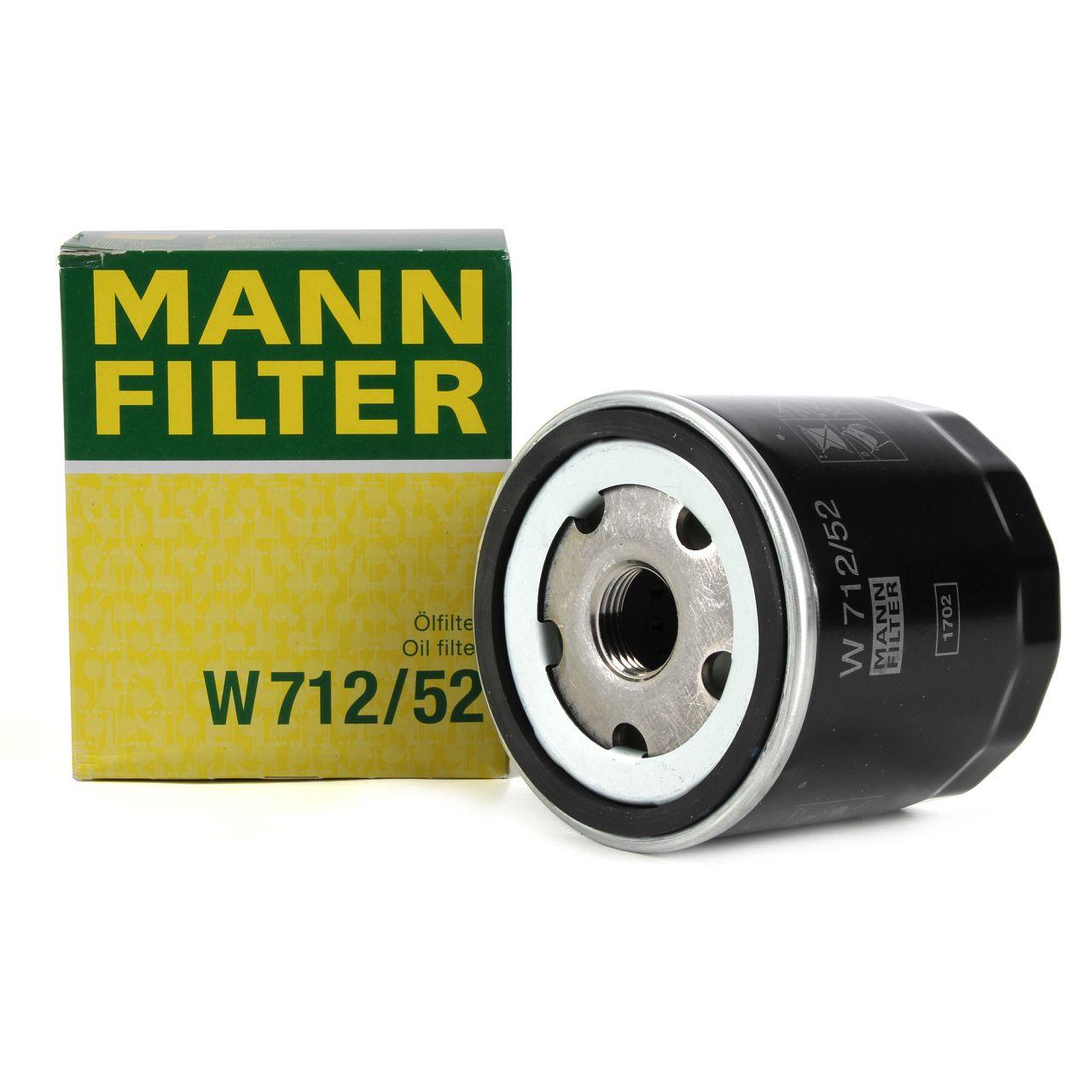 MANN W712/52 Ölfilter AUDI A2 SEAT SKODA VW Golf 3 4 5 6 Lupo Polo Vento 1.4 1.6