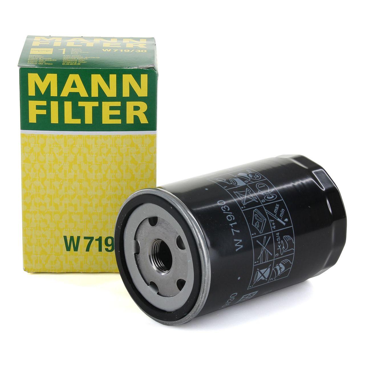 MANN W719/30 Ölfilter AUDI A3 A4 A6 A8 SEAT SKODA VW Golf 3 4 5 6 Passat T4 T5