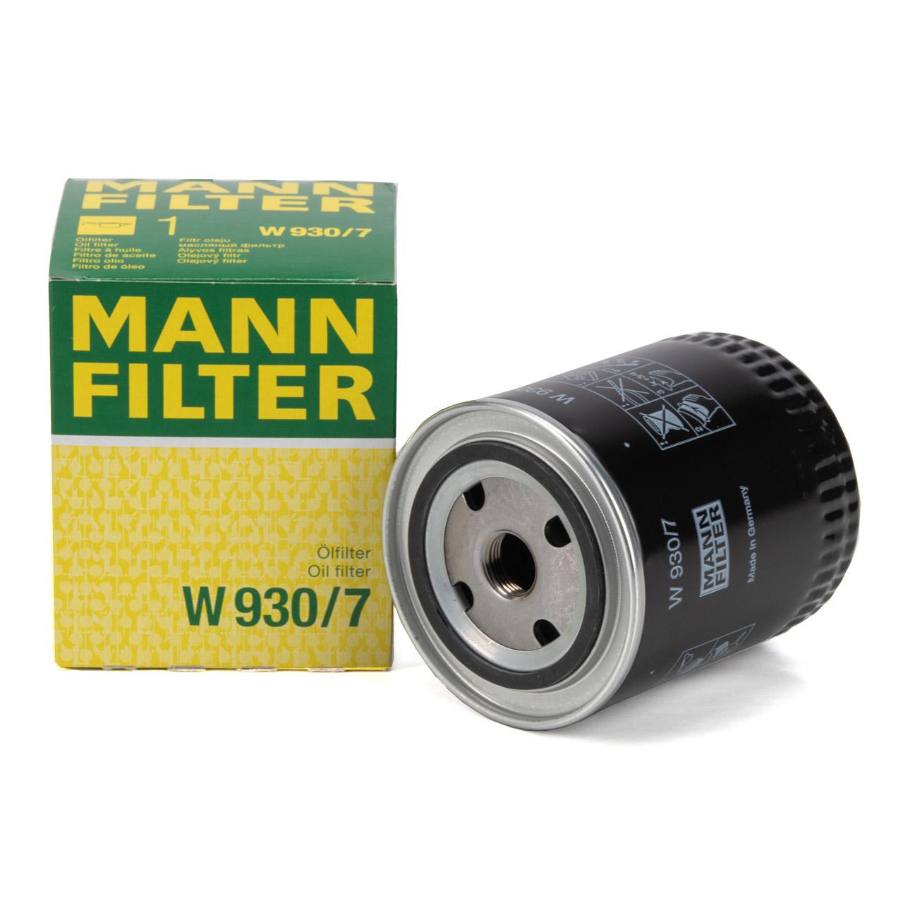 MANN W930/7 Ölfilter für CASE / IHC 744 833 844 INTERNATIONAL HARV. 743 844