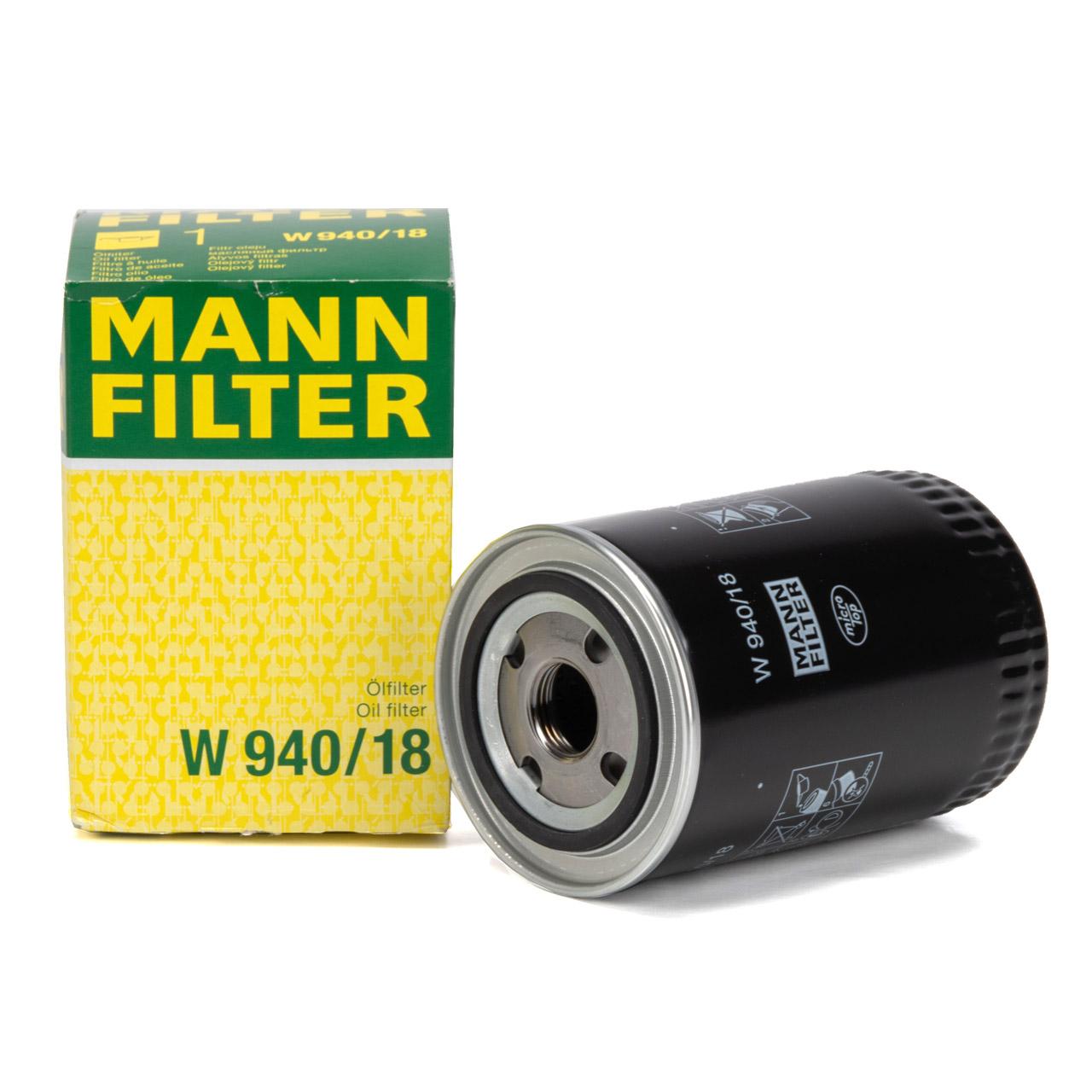 MANN W940/18 Ölfilter für Baumaschinen Traktor CASE DEUTZ JOHN DEERE STEYR
