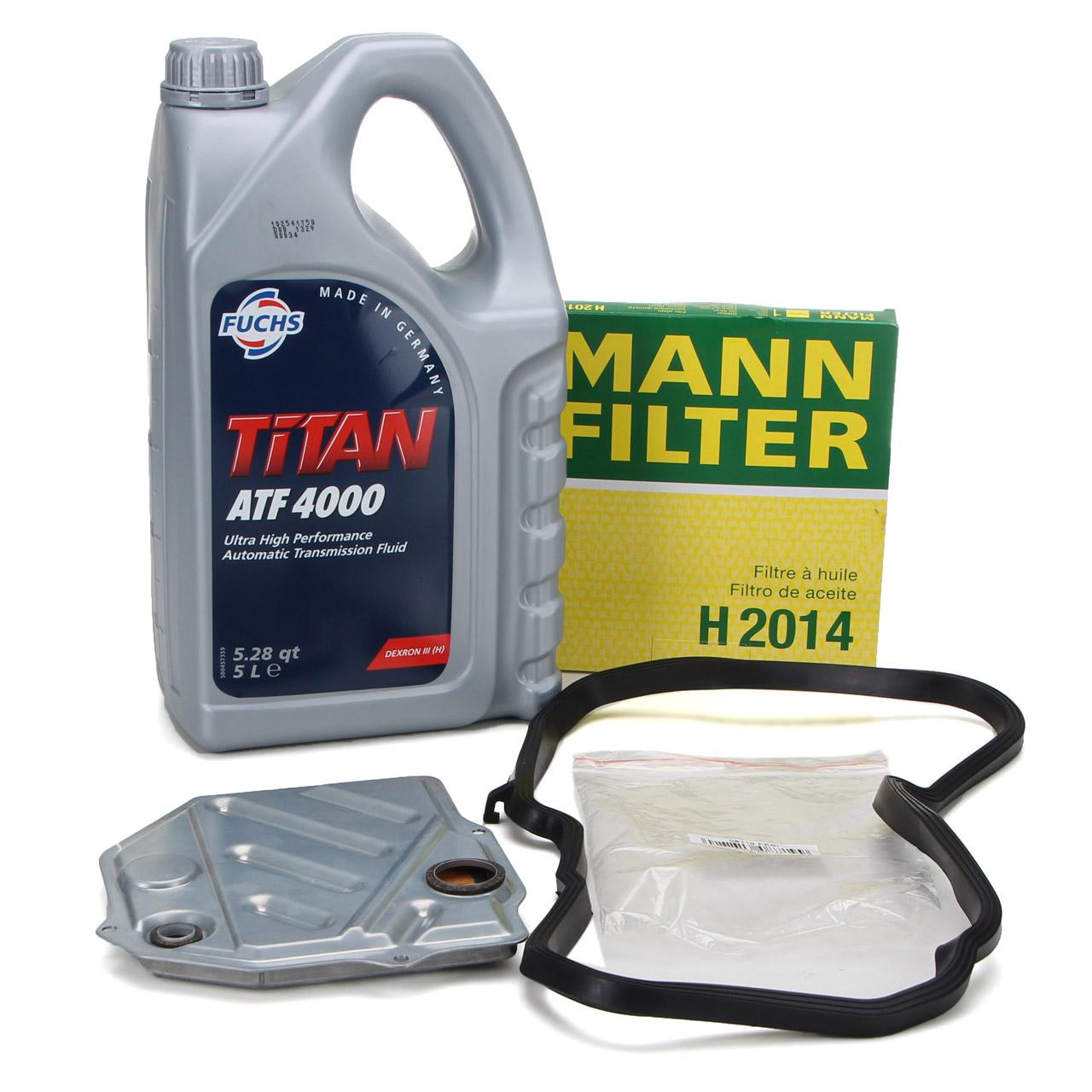 MANN Hydraulikfilter Automatik + 5L FUCHS Getriebeöl MERCEDES W202 W210 722.4
