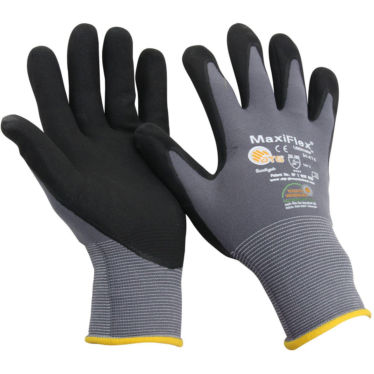 MAXIFLEX Ultimate ATG Texxor Handschuhe Arbeitshandschuhe Größe 8 / M (1 Paar)