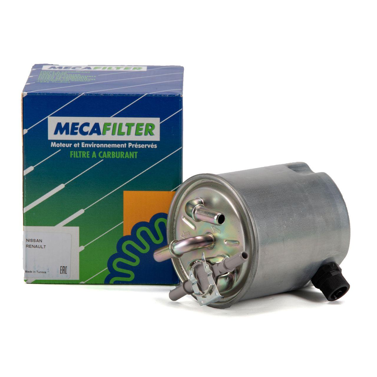 MECAFILTER Kraftstofffilter Dieselfilter NISSAN Qashqai I X-Trail T31 2.0dCi