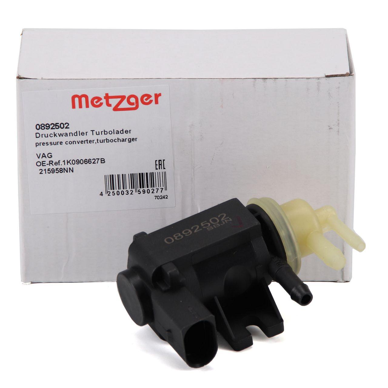 METZGER Druckwandler Turbolader für AUDI A1 8X A3 8P 8V VW GOLF 6 7 1.6/2.0 TDI