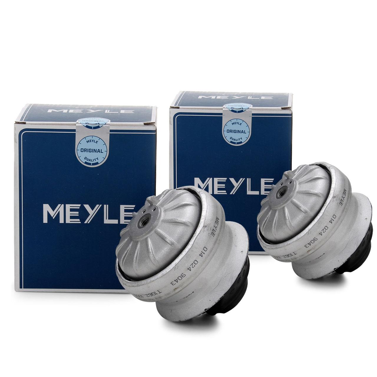2x MEYLE 0140249043 Motorlager MERCEDES 190 W201 W124 S124 C124 A124 vorne 1242401617