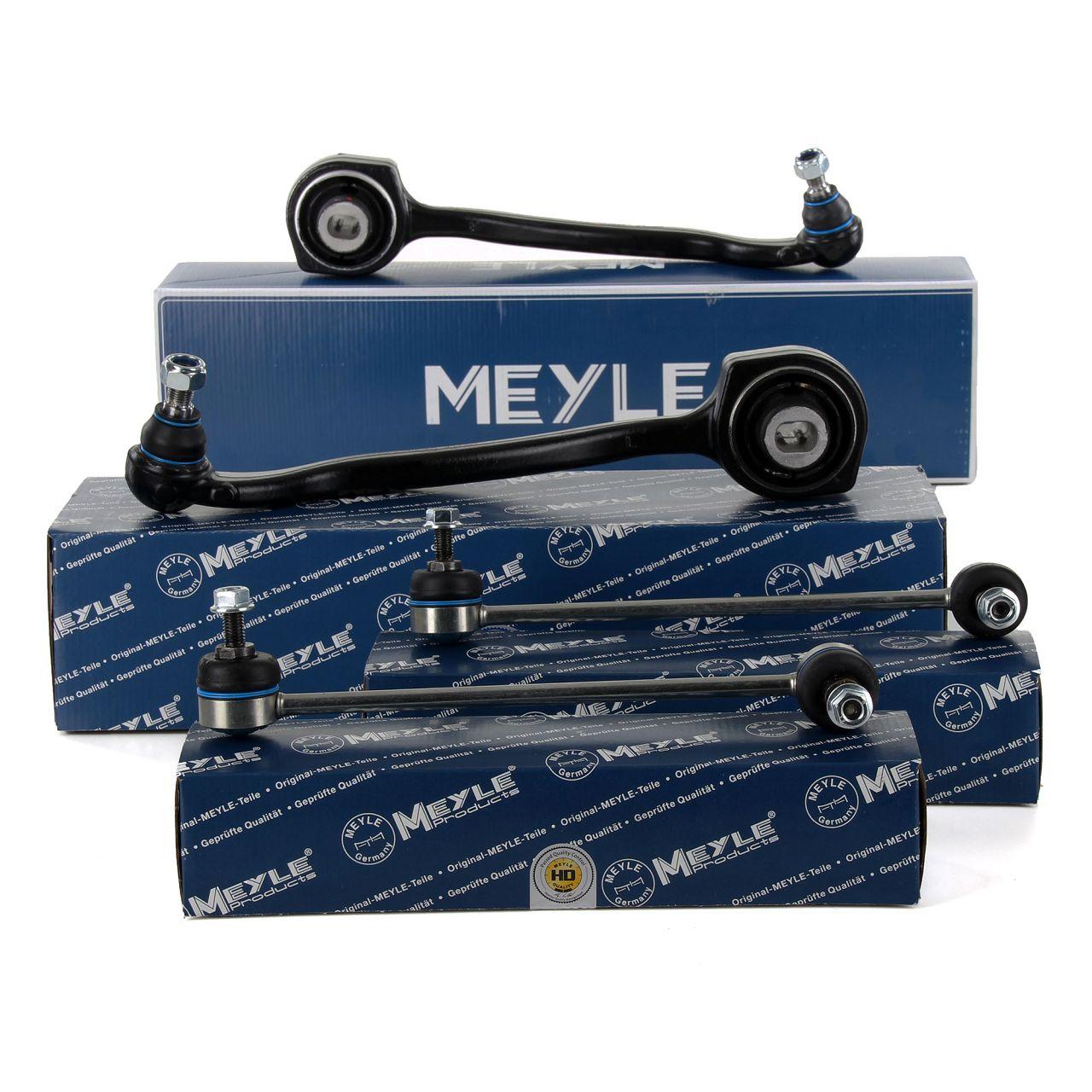 2x MEYLE Querlenker + HD Koppelstange MERCEDES W203 Vorderachse unten hinten