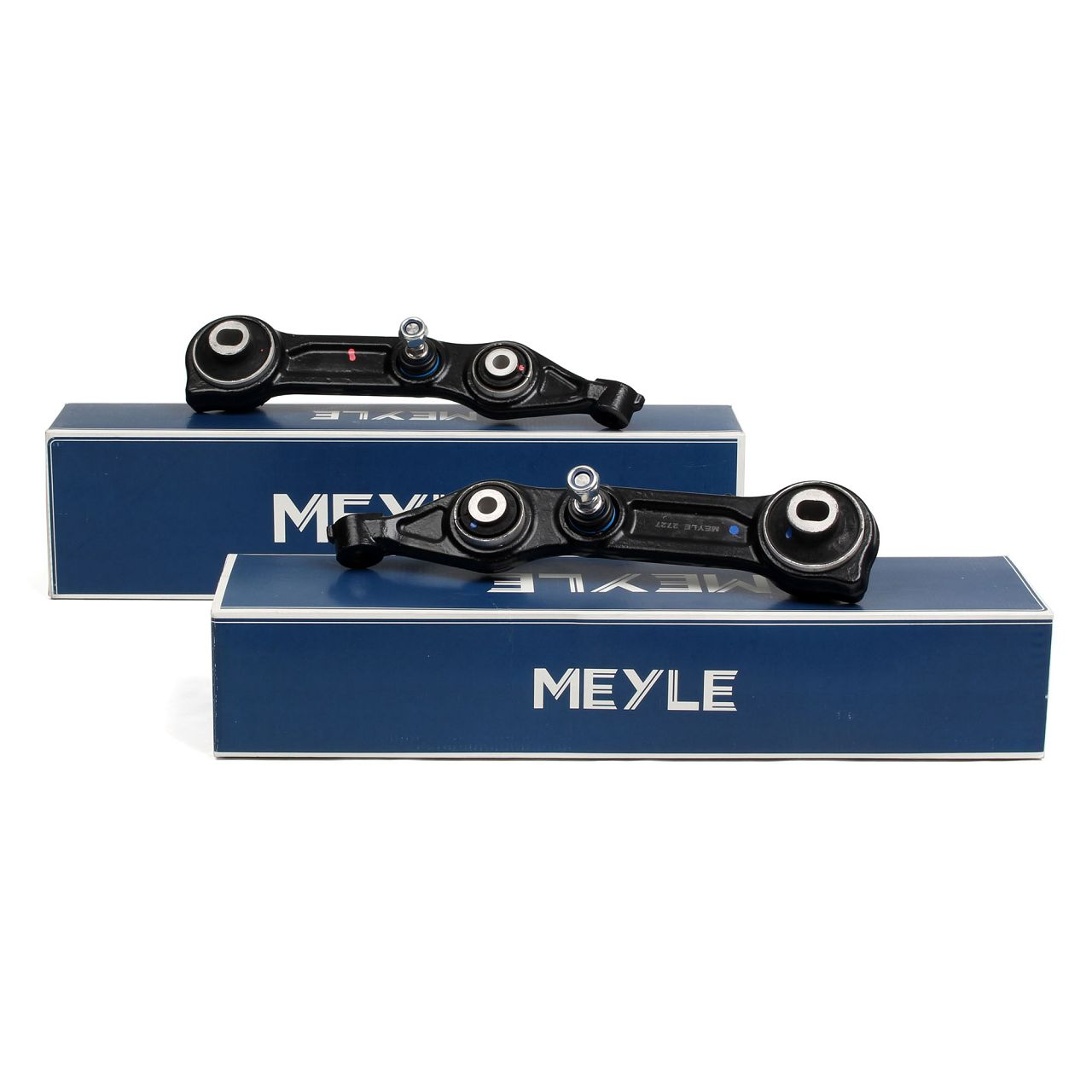 2x MEYLE Querlenker + Traggelenk MERCEDES C219 W211 Vorderachse unten hinten