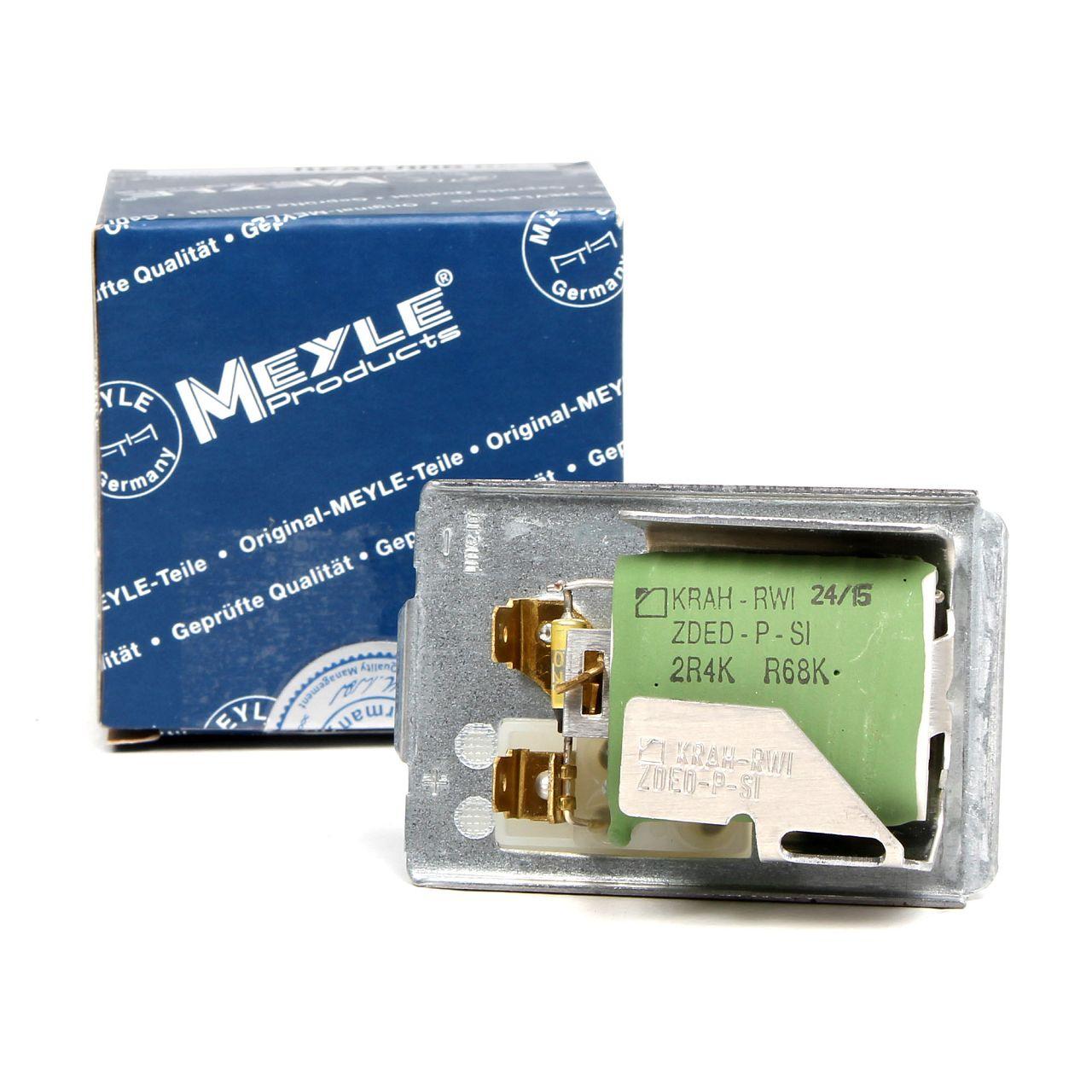 MEYLE Vorwiderstand Lüftung Regler Innenraumgebläse für VW GOLF II JETTA II