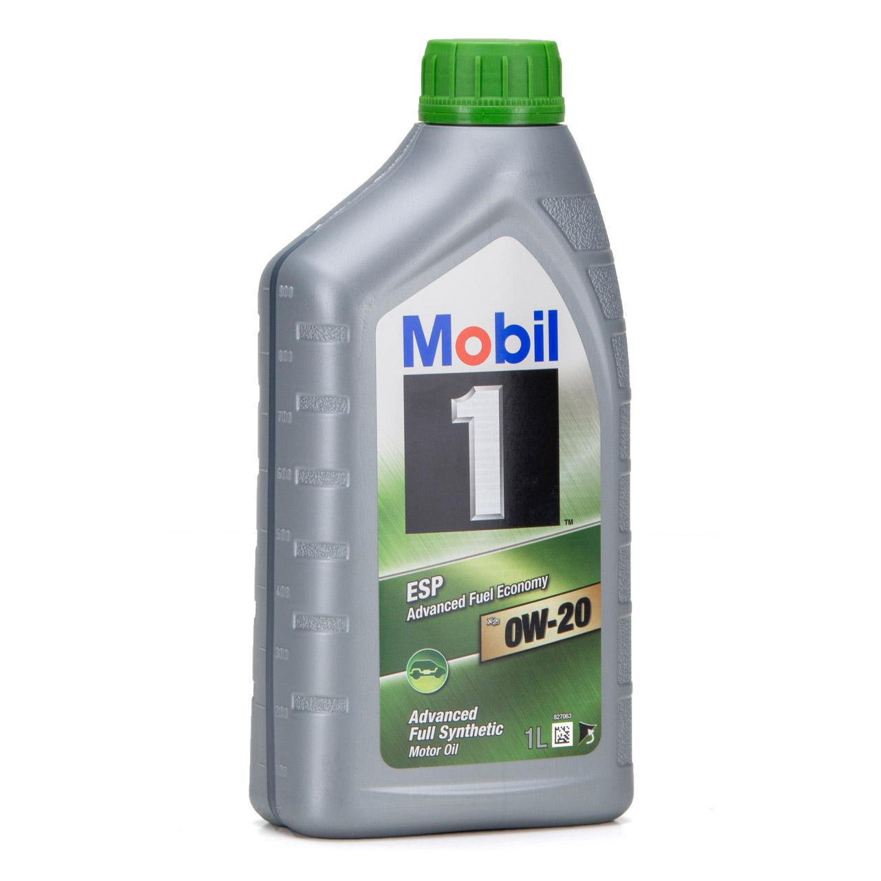 Mobil 1 ESP X2 Motoröl Öl 0W-20 0W20 PORSCHE C20 VW 508.00/509.00 - 1L 1 Liter