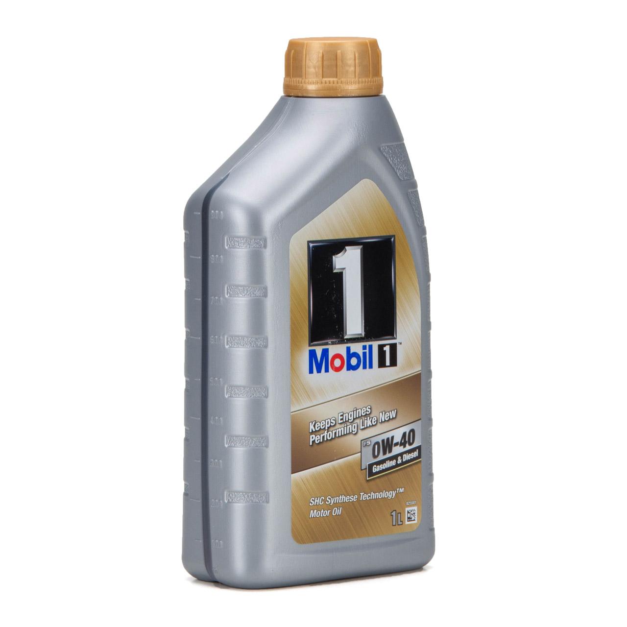 Mobil 1 FS Motoröl Öl 0W-40 0W40 MB PORSCHE A40 VW 502.00 505.00 - 1L 1 Liter