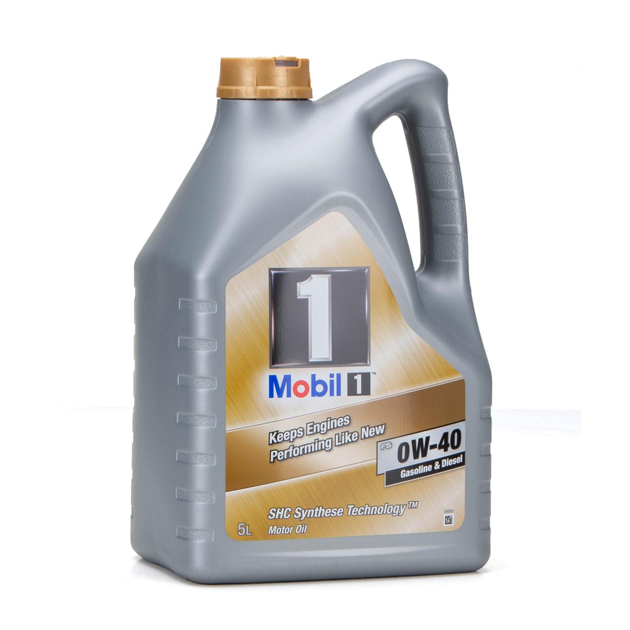Mobil 1 FS Motoröl Öl 0W-40 0W40 MB PORSCHE A40 VW 502.00 505.00 - 5L 5 Liter