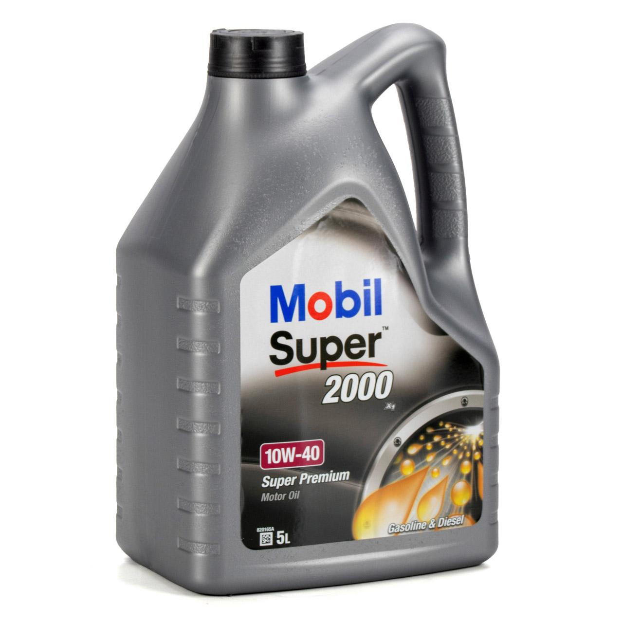 Mobil SUPER 2000 X1 10W40 Super Premium Motoröl Öl VW 501.01/505.00 - 10 Liter