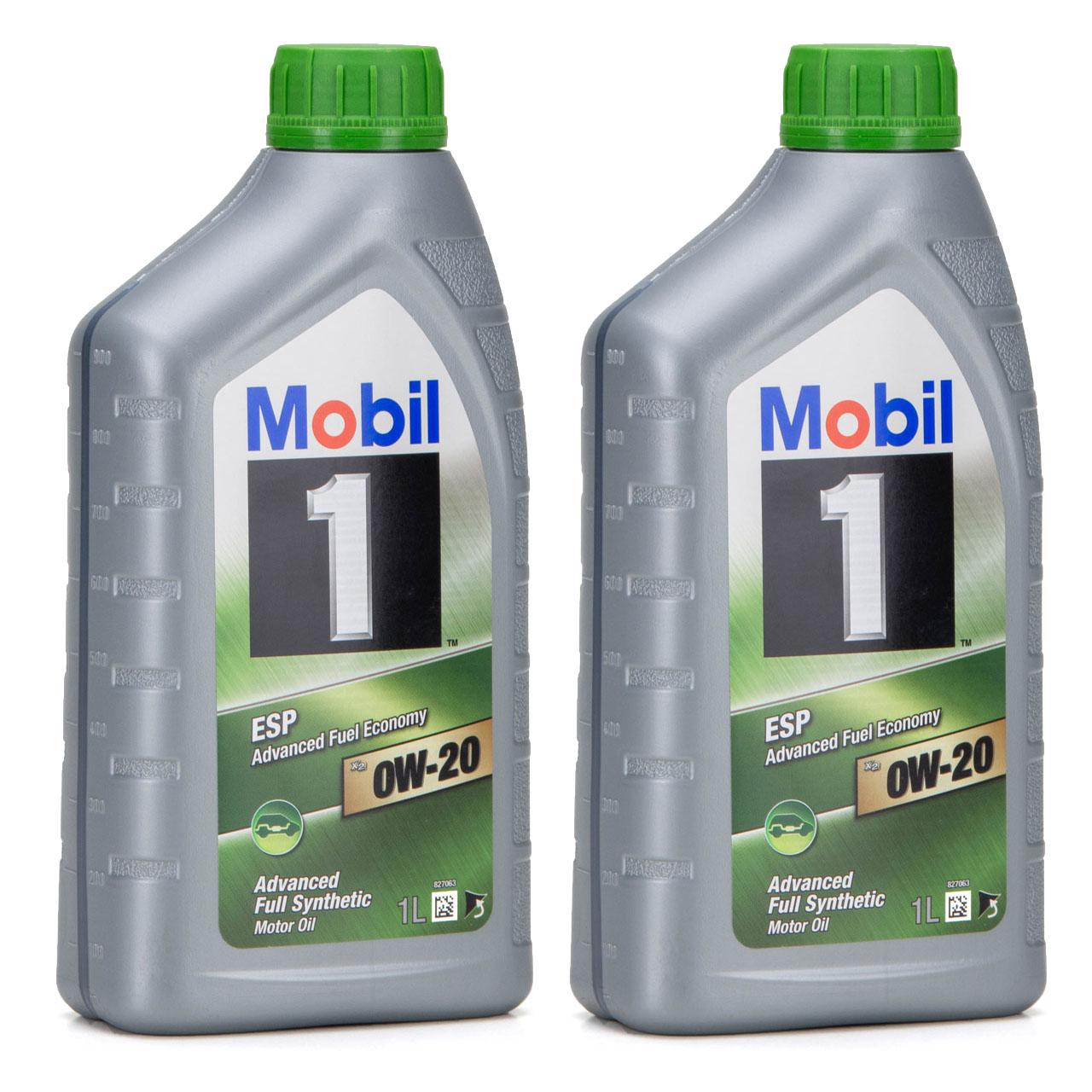 Mobil 1 ESP X2 Motoröl Öl 0W-20 0W20 PORSCHE C20 VW 508.00/509.00 - 2L 2 Liter