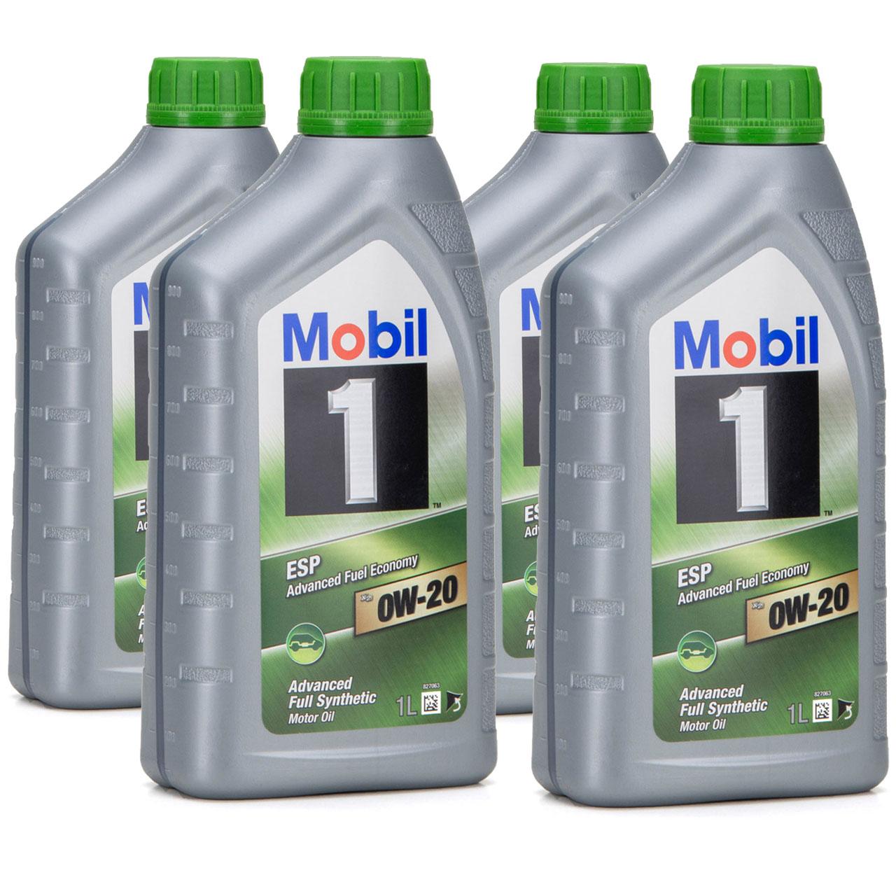 Mobil 1 ESP X2 Motoröl Öl 0W-20 0W20 PORSCHE C20 VW 508.00/509.00 - 4L 4 Liter