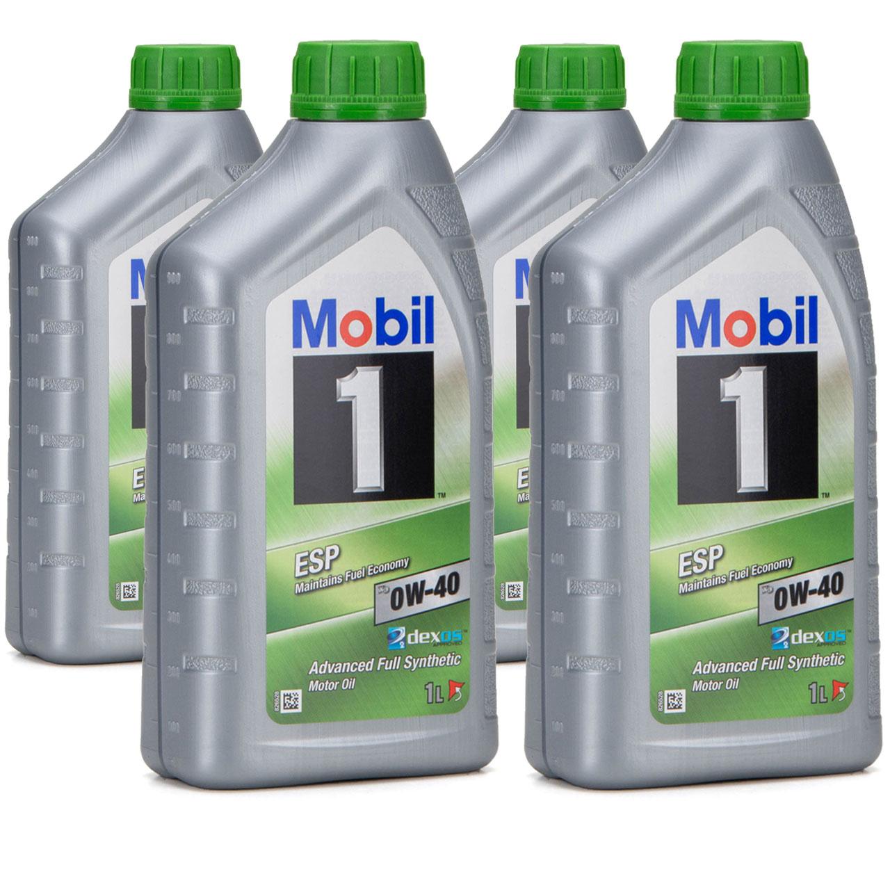 Mobil 1 ESP X3 C40 Motoröl Öl 0W-40 0W40 dexos2 PORSCHE C40 VW 511.00 - 4 Liter