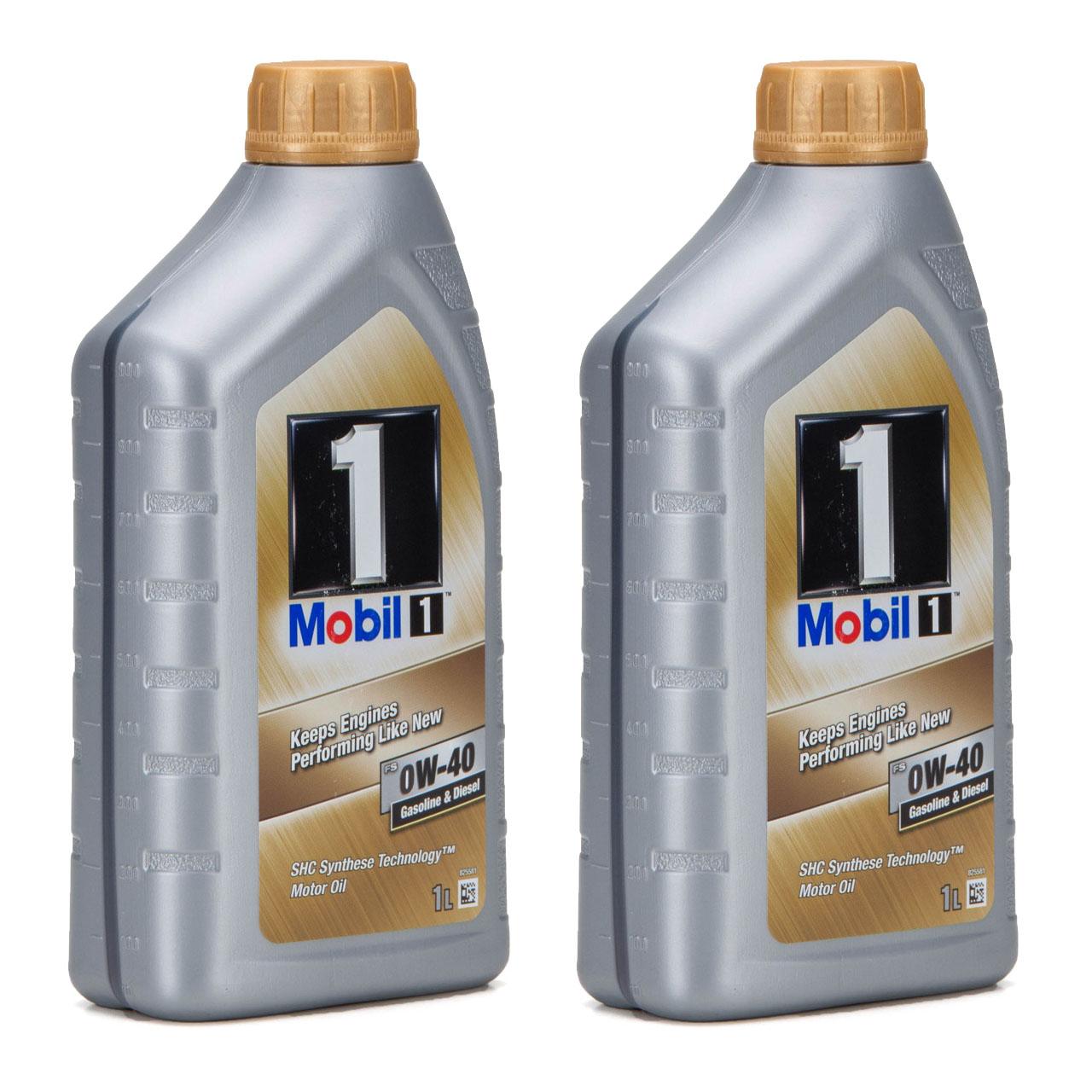 Mobil 1 FS Motoröl Öl 0W-40 0W40 MB PORSCHE A40 VW 502.00 505.00 - 2L 2 Liter