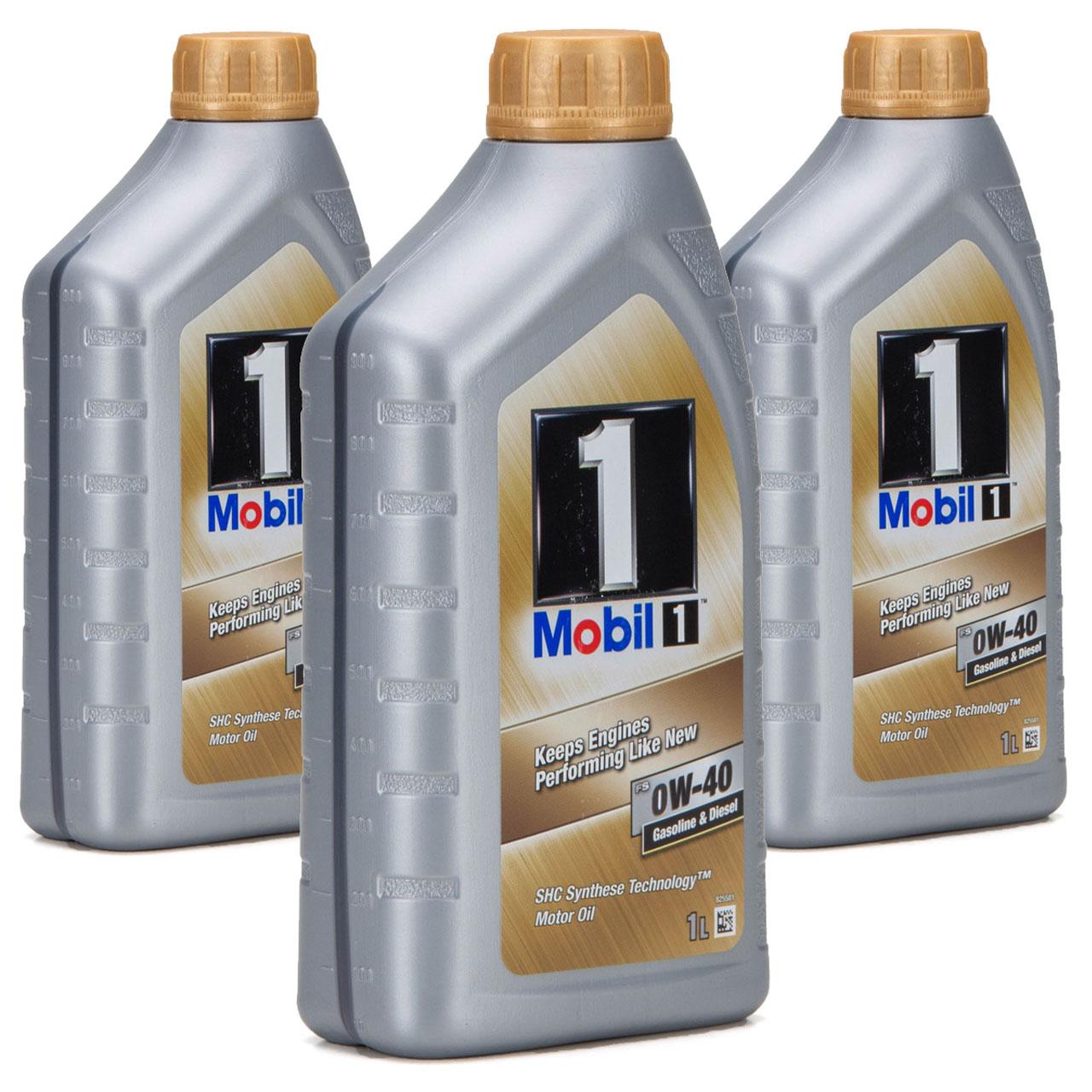 Mobil 1 FS Motoröl Öl 0W-40 0W40 MB PORSCHE A40 VW 502.00 505.00 - 3L 3 Liter