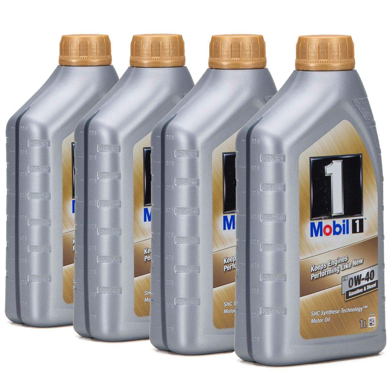 Mobil 1 FS Motoröl Öl 0W-40 0W40 MB PORSCHE A40 VW 502.00 505.00 - 4L 4 Liter