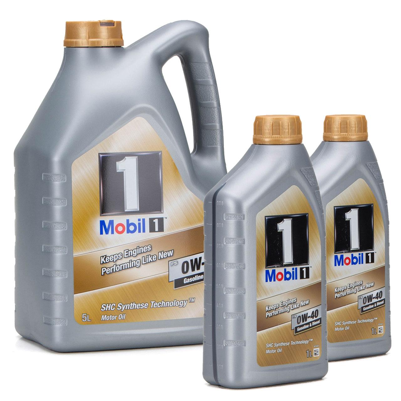 Mobil 1 FS Motoröl Öl 0W-40 0W40 MB PORSCHE A40 VW 502.00 505.00 - 7L 7 Liter