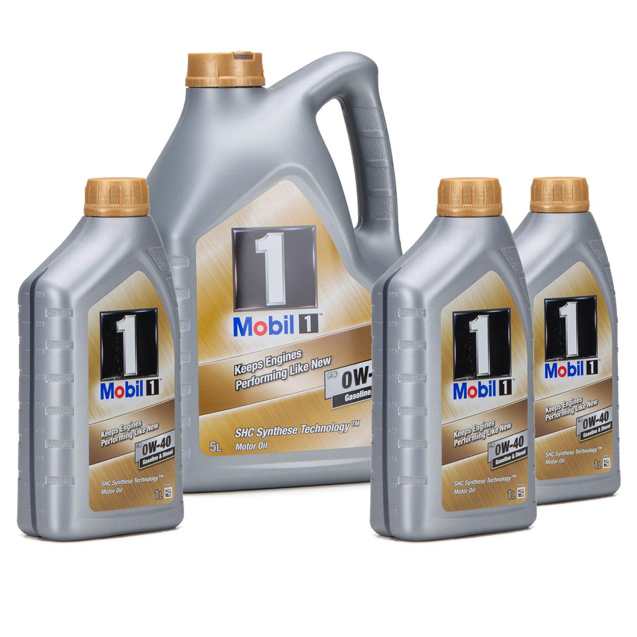 Mobil 1 FS Motoröl Öl 0W-40 0W40 MB PORSCHE A40 VW 502.00 505.00 - 8L 8 Liter