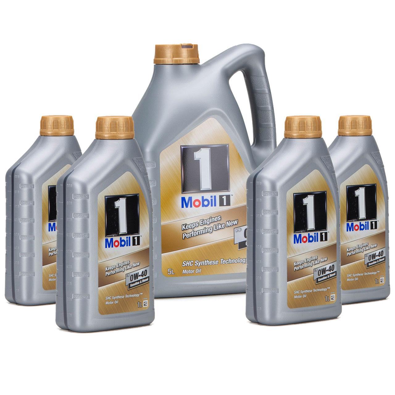 Mobil 1 FS Motoröl Öl 0W-40 0W40 MB PORSCHE A40 VW 502.00 505.00 - 9L 9 Liter