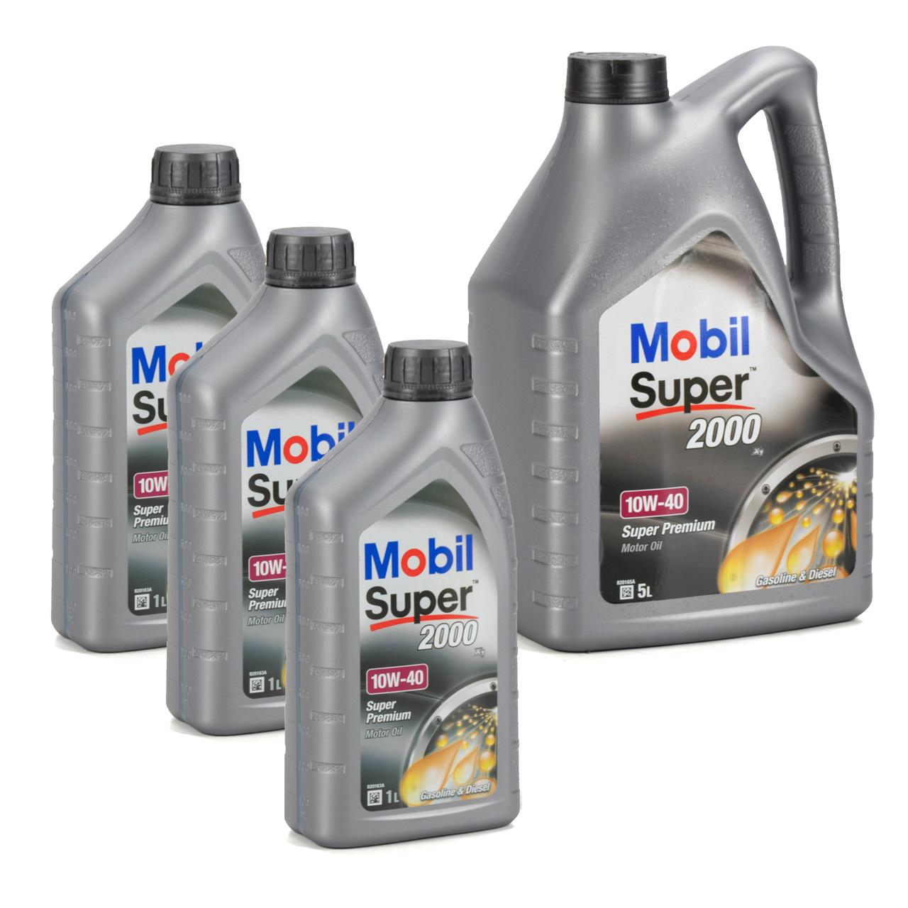 Mobil SUPER 2000 X1 10W40 Super Premium Motoröl Öl VW 501.01/505.00 - 8L 8 Liter